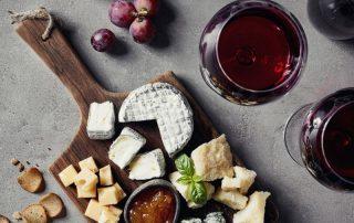 sélection vin et fromage